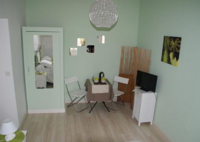 Chambre à thème verte